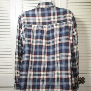 Brandy Melville Tops - Brandy Melville Blue Flannel Plaid S